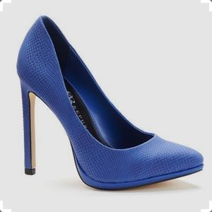 Rock and Republic Blue Snakeskin Stilettos